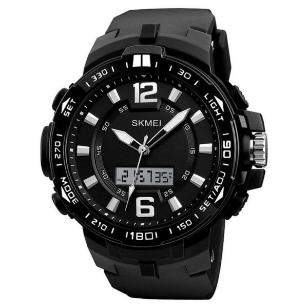5befd99c314 ... c515e8547e6 Relógio Masculino Skmei Anadigi 1273 - Preto e Branco -  ShopDesconto .. ...