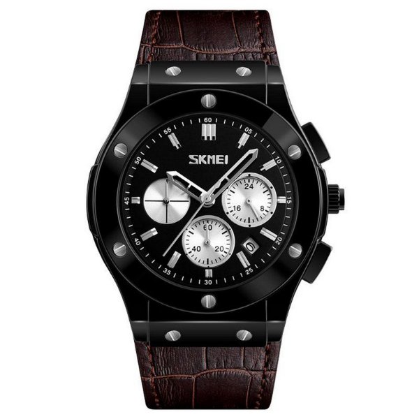 Relógio Masculino Skmei Analógico 9157 - Preto e Marrom