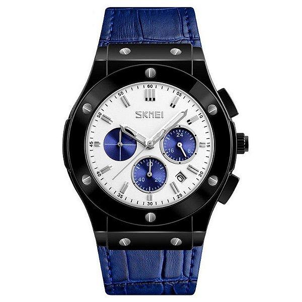 Relógio Masculino Skmei Analógico 9157 - Preto e Azul