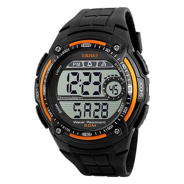 Relógio Masculino Skmei Digital 1203 - Preto e Laranja
