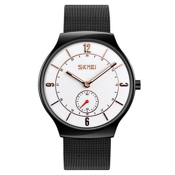 Relógio Masculino Skmei Analógico 9163 - Preto e Branco
