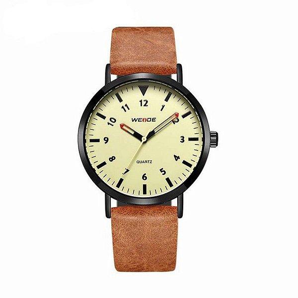 Relógio Masculino Weide Analógico WD003 Marrom e Bege