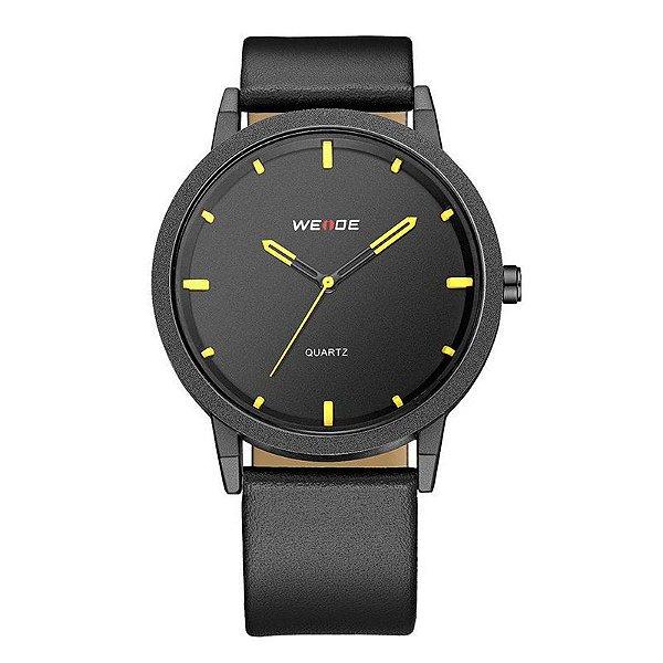 Relógio Masculino Weide Analógico WD001 Preto e Amarelo
