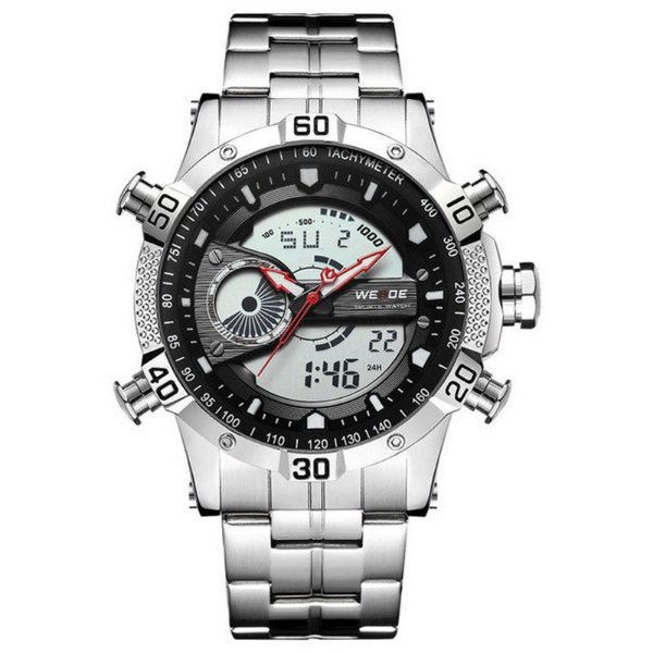 Relógio Masculino Weide AnaDigi WH-6902 - Prata e Preto