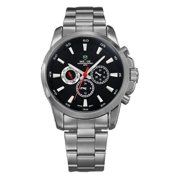 Relógio Masculino Weide Analógico QT12 - Preto