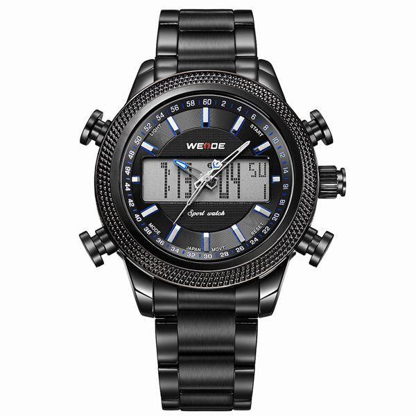 Relógio Masculino Weide Anadigi WH-3406 - Preto e Azul