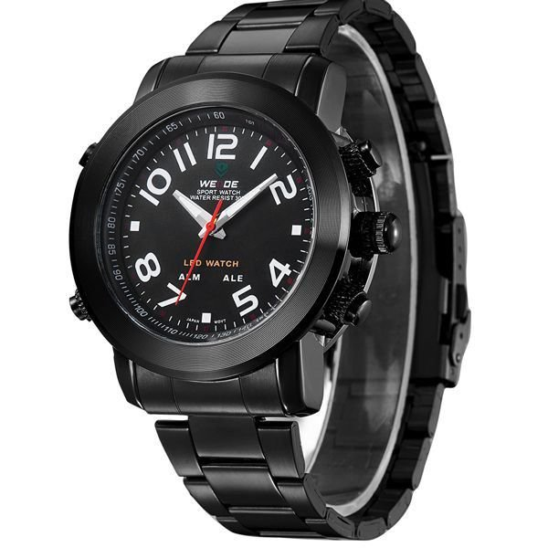 Relógio Masculino Weide AnaDigi WH-1105 - Preto