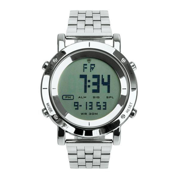 Relógio Masculino Tuguir Metal Digital TG6017 Prata
