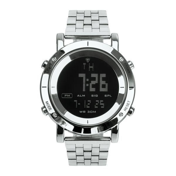 Relógio Masculino Tuguir Metal Digital TG6017 Prata e Preto