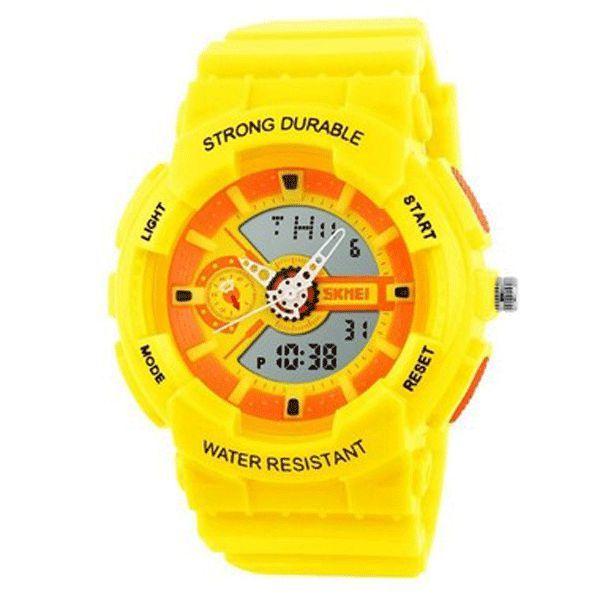 Relógio Infantil Skmei Anadigi 1052 Amarelo