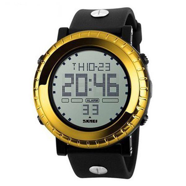 Relógio Masculino Skmei Digital 1172 - Preto e Dourado
