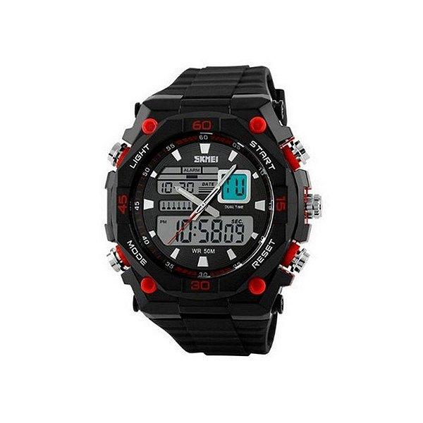 Relógio Masculino Skmei Anadigi 1092 Vermelho
