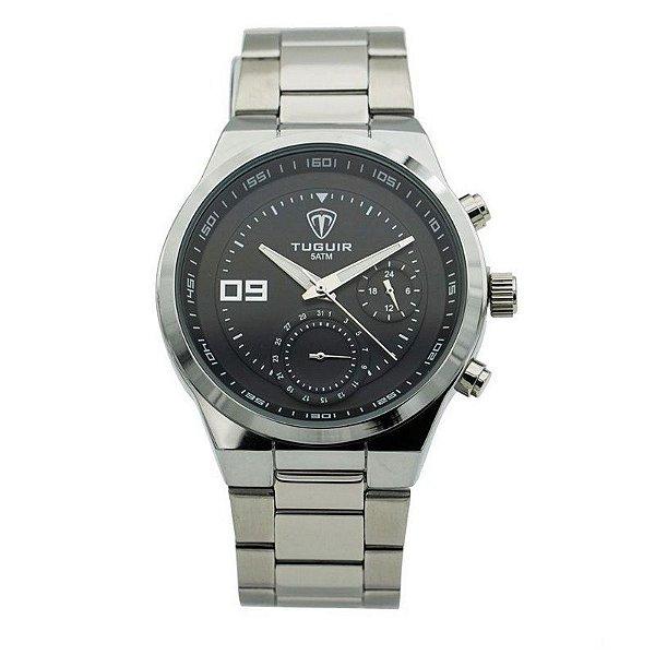 Relógio Masculino Tuguir Analógico 5440G - Prata e Preto