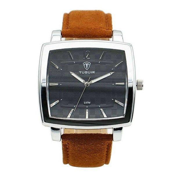 Relógio Masculino Tuguir Analógico 5436G - Prata e Marrom
