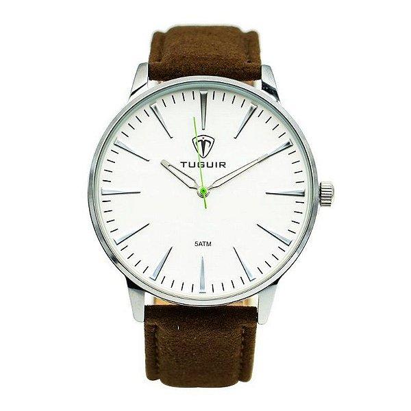 Relógio Masculino Tuguir Analógico 5273G - Marrom e Prata