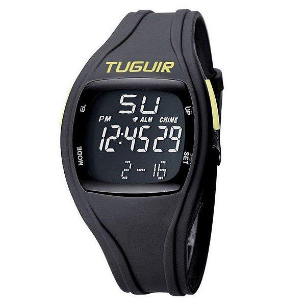Relógio Unissex Tuguir Digital TG1602 Preto e Verde
