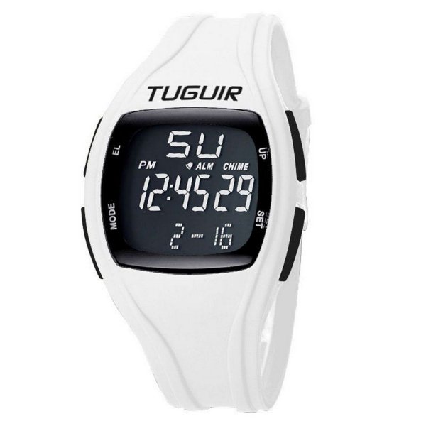 101b80b95d0 Relógio Unissex Tuguir Digital TG1602 Branco e Preto - ShopDesconto ...