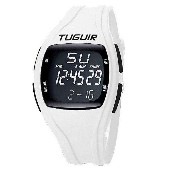 Relógio Unissex Tuguir Digital TG1602 Branco e Preto