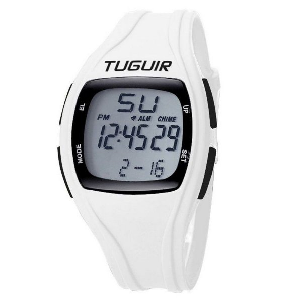 Relógio Pedômetro Unissex Tuguir Digital TG1801 - Branco
