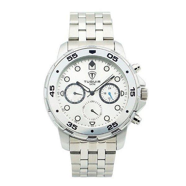 Relógio Masculino Tuguir Analógico 5328G Prata