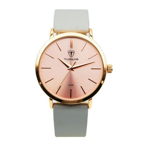 Relógio Feminino Tuguir Analógico 5441L Rose e Cinza