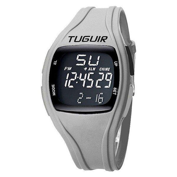 Relógio Unissex Tuguir Digital TG1602 Preto e Cinza