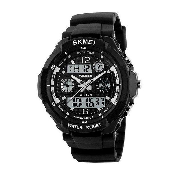 Relógio Masculino Skmei AnaDigi 0931 - Preto e Branco