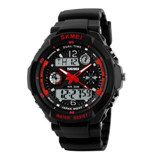 Relógio Masculino Skmei Anadigi 0931 Vermelho