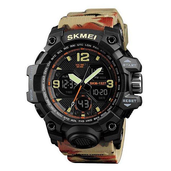 8a3e9949f20 Relógio Masculino Skmei Anadigi 1327 Camuflado - ShopDesconto - Aqui ...
