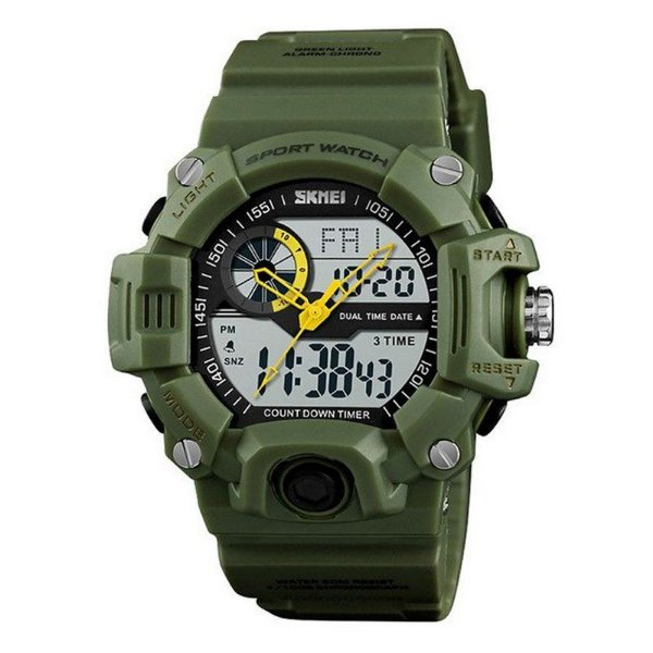 Relógio Masculino Skmei Anadigi 1331 Verde