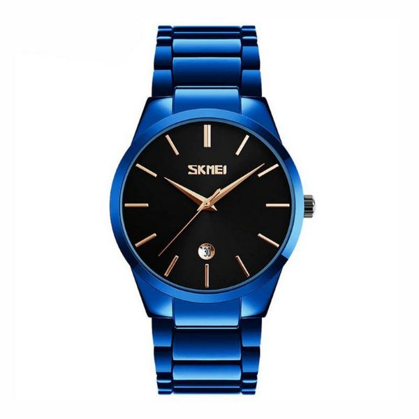 Relógio Masculino Skmei Analógico 9140 Azul e Preto
