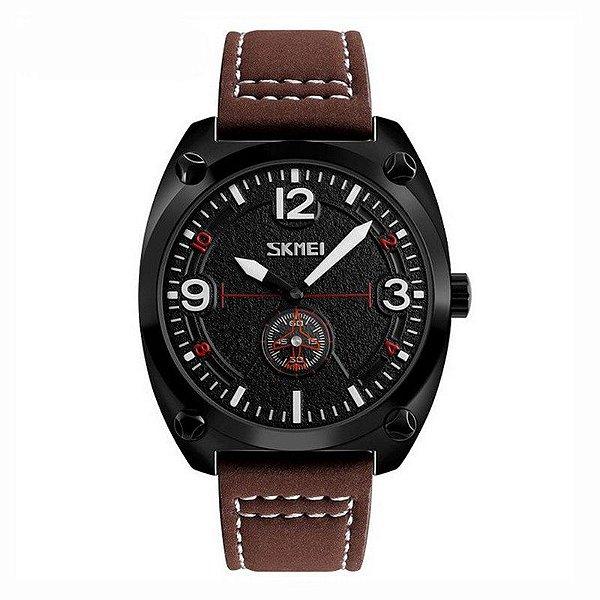 Relógio Masculino Skmei Analógico 9155 Marrom