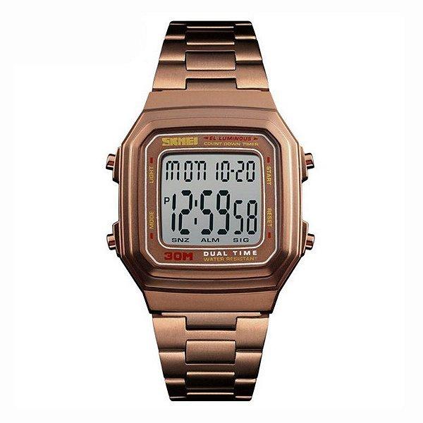 Relógio Unissex Skmei Digital 1337 Café
