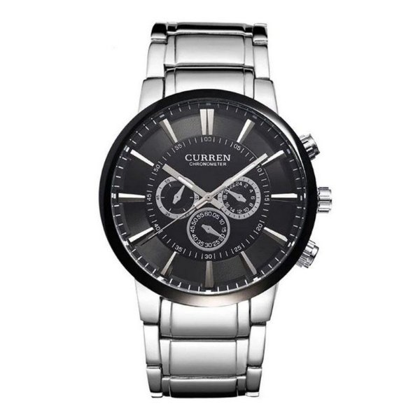 Relógio Masculino Curren Analógico 8001 - Preto