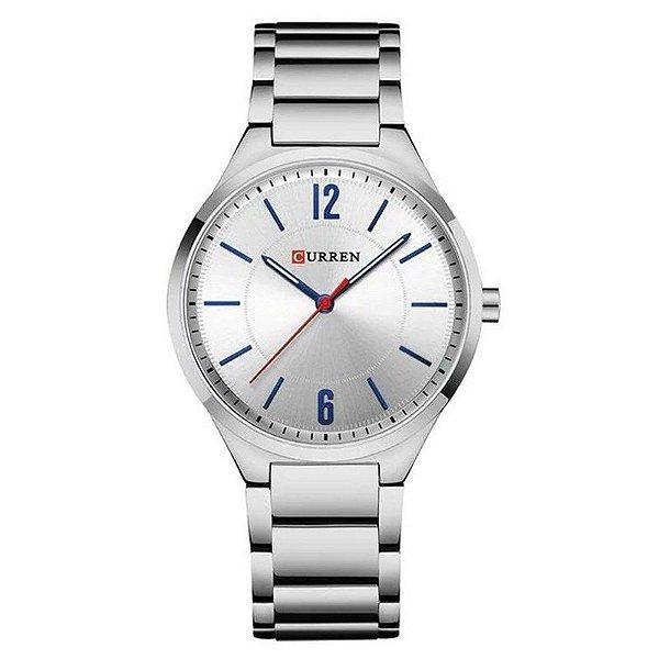 Relógio Unissex Curren Analógico 8280 - Prata