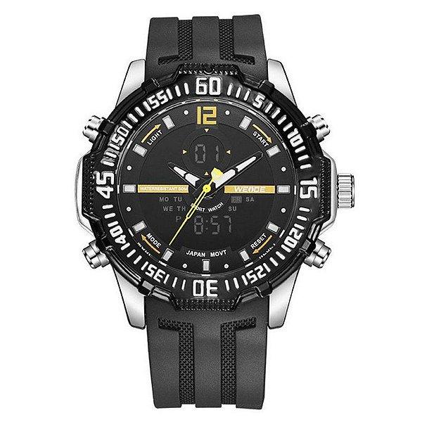 Relógio Masculino Weide Anadigi WH-6105 - Preto