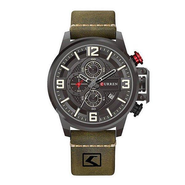 Relógio Masculino Curren Analógico 8278 - Verde e Preto