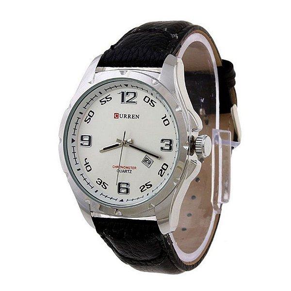 47432d9c6e2 Relógio Masculino Curren Analógico 8121 - Prata - ShopDesconto ...