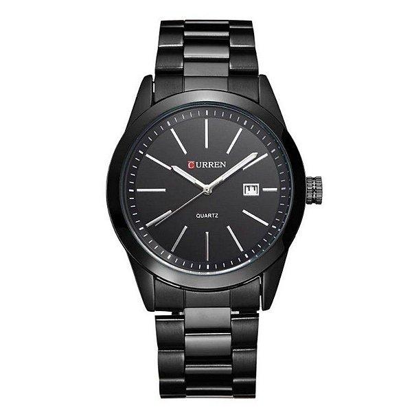 Relógio Masculino Curren Analógico 8091 - Preto