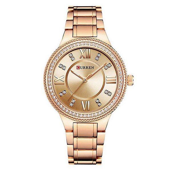 Relógio Feminino Curren Analógico C9004L - Rose