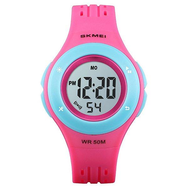Relógio Infantil Menina Skmei Digital 1455 - Rosa e Azul