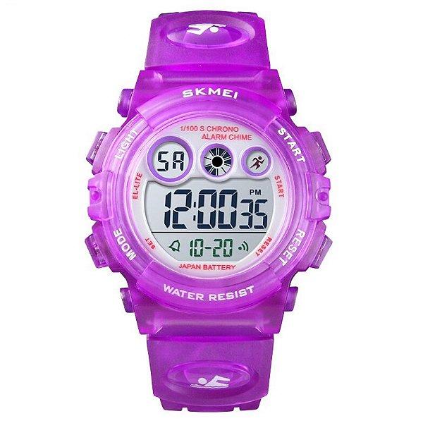 Relógio Infantil Menina Skmei Digital 1451 - Roxo