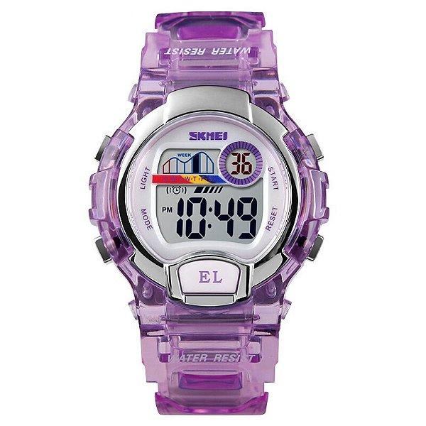 Relógio Infantil Menina Skmei Digital 1450 - Roxo
