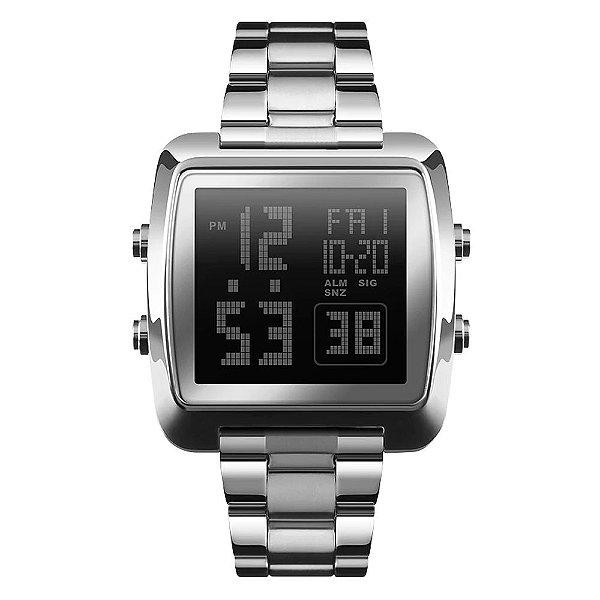 Relógio Masculino Skmei Digital 1369 - Prata e Preto