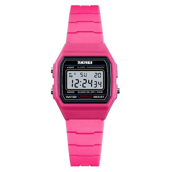 Relógio Infantil Menina Skmei Digital 1460 - Rosa