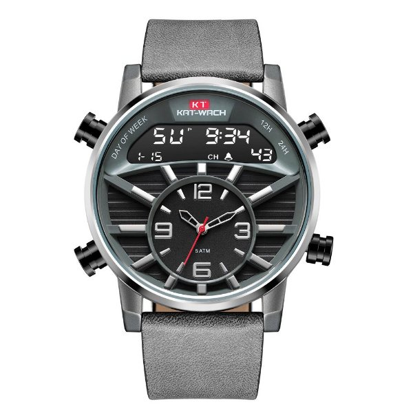 Relógio Masculino Kat-Wach AnaDigi KT1819 - Cinza e Prata