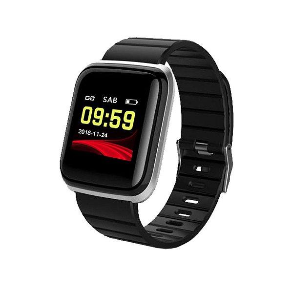 Relógio Smart Unissex Tuguir Digital B7 - Preto e Prata