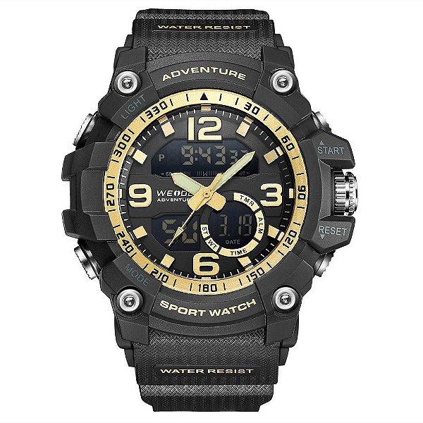 Relógio Masculino Weide AnaDigi WA3J8001 - Preto e Dourado