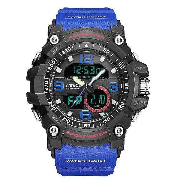 Relógio Masculino Weide AnaDigi WA3J8001 - Azul e Preto