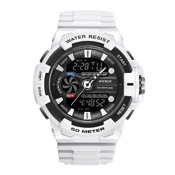 Relógio Masculino Weide AnaDigi WA3J8009 - Branco e Preto